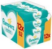 12x Pampers Billendoekjes Sensitive Navulpak 52 doekjes