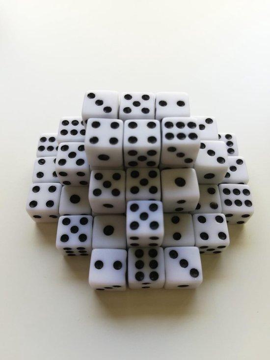 Afbeelding van het spel 10 Stuks witte dobbelstenen set - Kleine dobbelstenen - Mini dobbelstenen wit - Dobbelsteentjes | Yahtzee Bordspel | Gezelschapsspel | Spelletje | Spelletjes