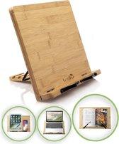 LeafU® Leesboek Standaard - Bamboe Boekenstandaard -  Kookboekstandaard - iPad Standaard/Tablet Standaard - Boekenhouder - Book holder