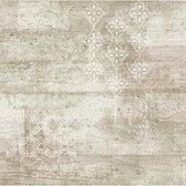 Vintage beton/print beige behang (vliesbehang, beige)