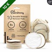 Bamboozy 10 Wasbare Wattenschijfjes 8x Dagelijks 2x Scrub - Herbruikbare Wattenschijfjes - Make up Pads Zero Waste Duurzaam Bamboe