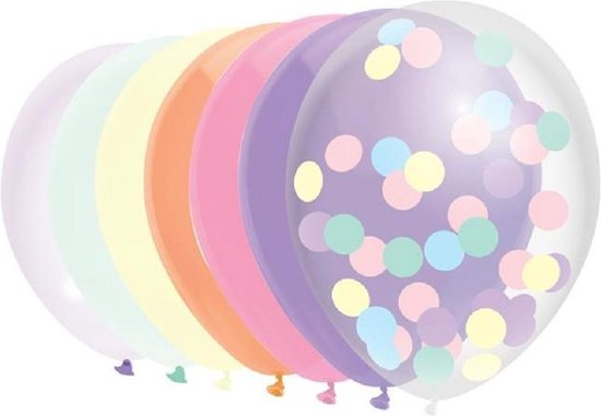 Ballonnen mix Perfect pastels 10 stuks