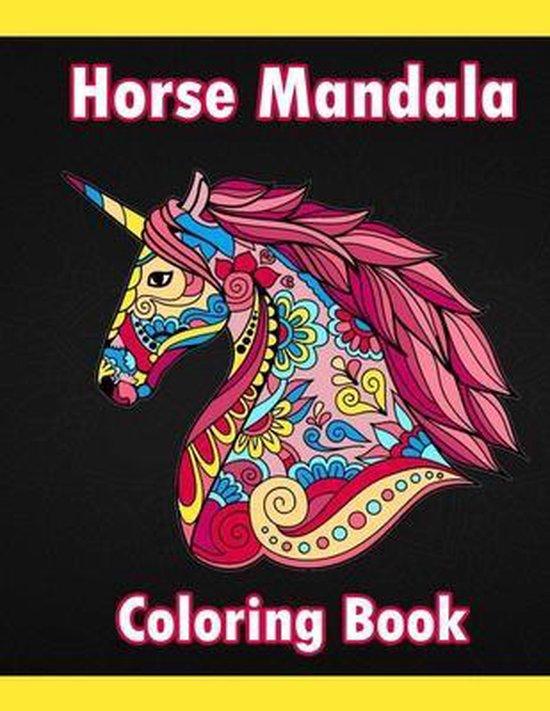 Horse Mandala Coloring Book