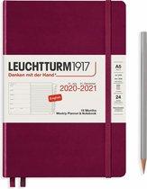 Leuchtturm1917 A5 Medium Weekly Planner & notitieboek 2020/2021 (18 mnds) hardcover Port Red