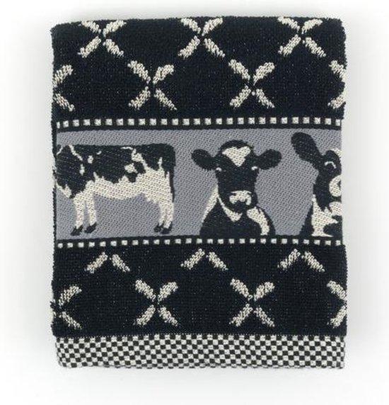 Keukendoek Bunzlau Castle Cows 53x60cm, zwart - 6 pack