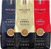 O'ccaffè - Italiaanse koffiebonen Proefpakket   3 x 250gr   Barista kwaliteit