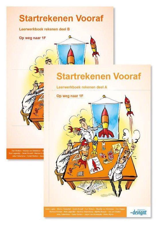 Boek cover Startrekenen vooraf Deel A+B Leerwerkboek van Irene Lugten (Paperback)