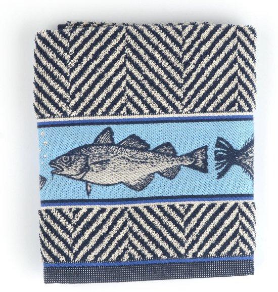 Keukendoek Bunzlau Castle Fish 53x60cm, koninklijk blauw - 6 pack