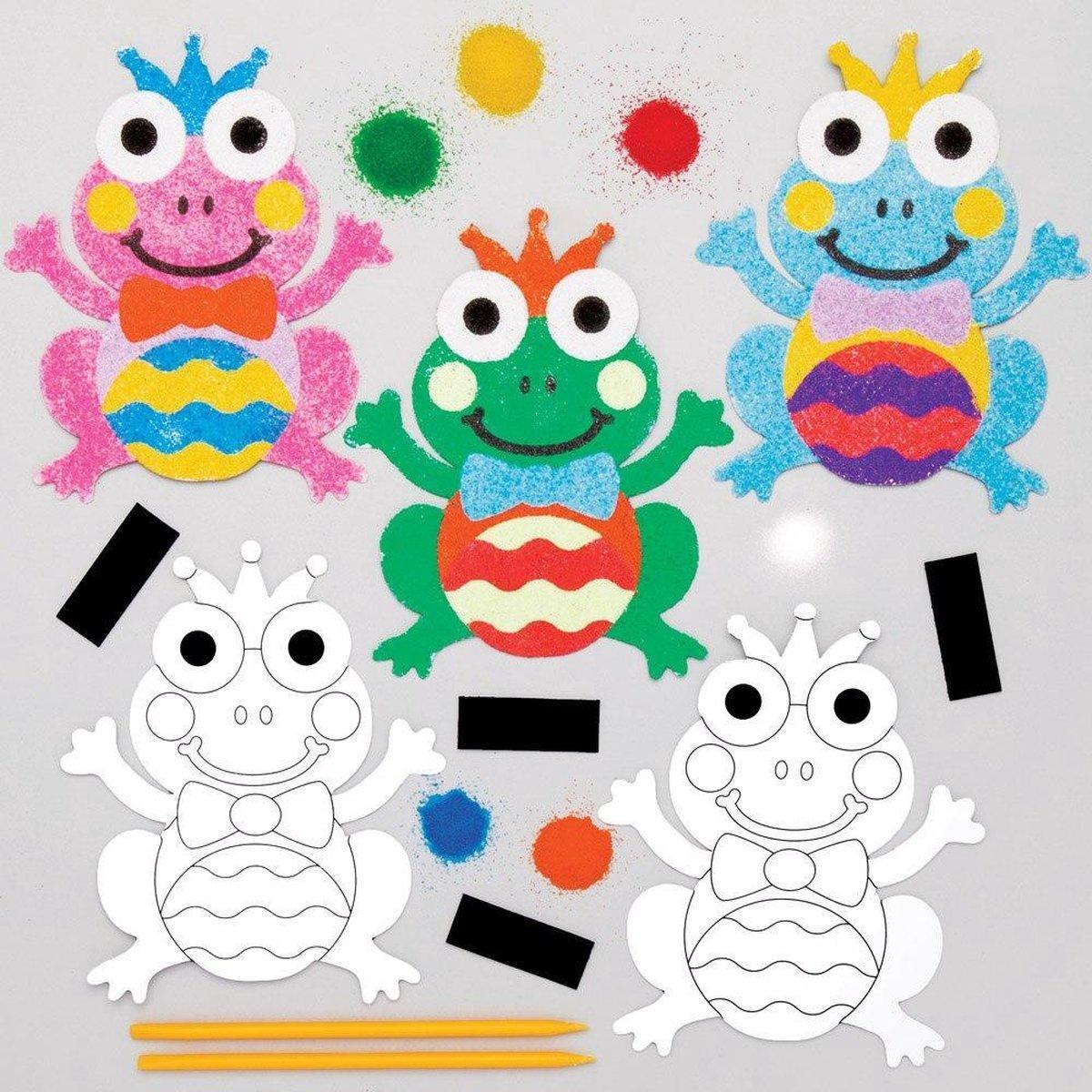 Baker Ross Kikker Magneten met Zand - Knutselspullen voor Kinderen (6 stuks)