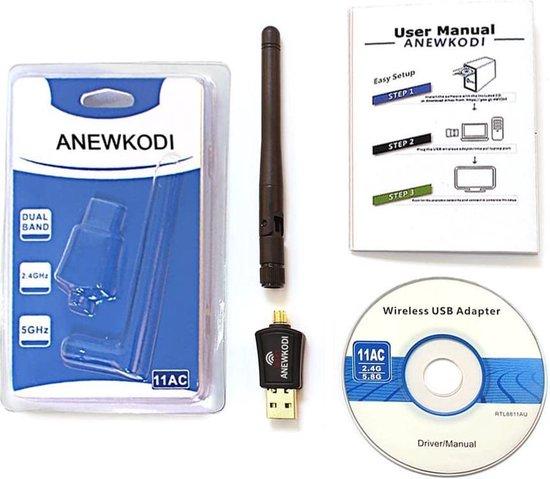 Wifi Dongle USB Wifi-adapter - USB 3.0 - 5dBi-antenne