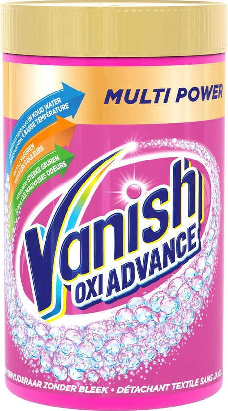 Vanish Oxi Advance Multi Power Base Poeder - Voor Witte en Gekleurde Was - 1,2 kg