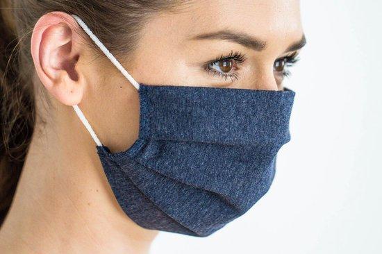 Afbeelding van Mondkapje | Wasbaar | Katoen | Jeans | Oeko-Tex Standard 100