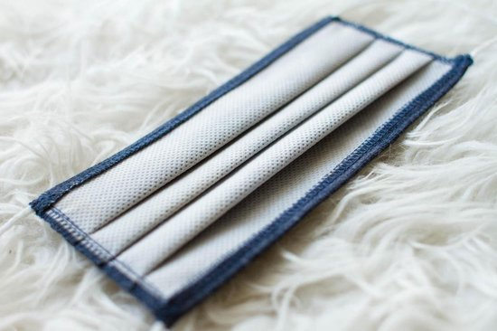 Mondkapje | Wasbaar | Katoen | Jeans | Oeko-Tex Standard 100 - Smartvat