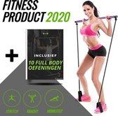 Multifunctionele Fitness Bar | Fitness elastiek | Weerstandsband | Thuis Fitness | Pilates stang | Yoga | Dumbels & Gewichten vervanger | Hometrainer