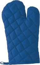 Blauwe ovenwant/ovenhandschoen keukentextiel - Keukenhandschoen - Keukentextiel