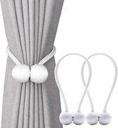 Geweefde Magnetische Gordijnhouder - Elegante Embrasse - 40CM lang - Wit - 2 stuks per set - Moderne Raam Decoratie - Touwbinder