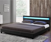Gestoffeerd bed Paris - 140 x 200cm - Incl. LED