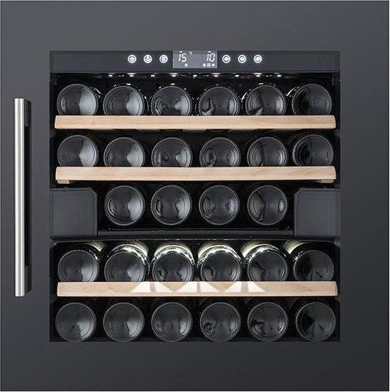 Koelkast: Temptech OBI60DB inbouwwijnkoelkast - 28 flessen, van het merk Temptech
