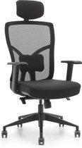 OVVIS Dean Ergonomische Bureaustoel - Zwart met Hoofdsteun - Volledig Verstelbare Bureaustoel