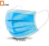 Q-time mondkapjes 10 Stuks Mondmaskers - stofmaske