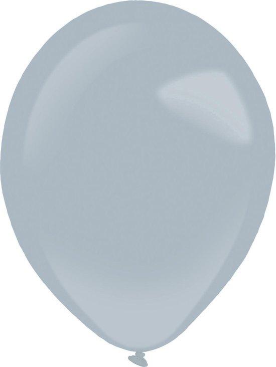 Amscan Ballonnen Fashion 12 Cm Latex Grijs 100 Stuks