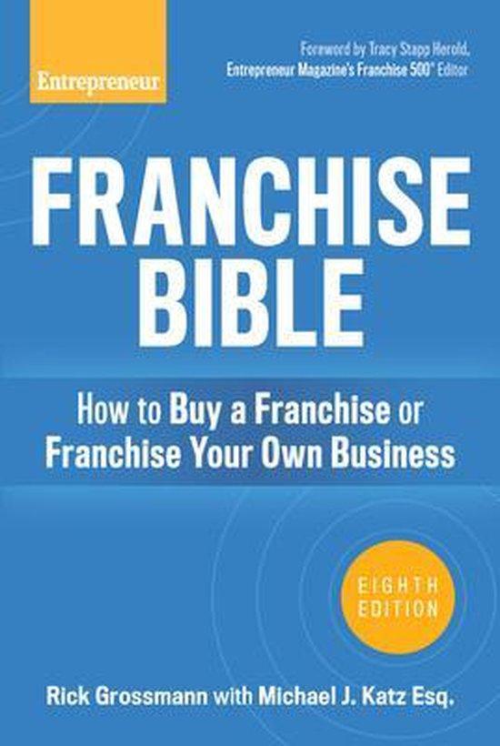 Boek cover Franchise Bible van Rick Grossmann (Onbekend)