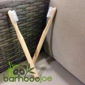Bamboe Tandenborstel Afbreekbaar - Wit Medium - Ronde Grip