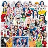 Billie Eilish stickers - 100 stuks - DIY voor laptop, muur, deur, smartphone etc.
