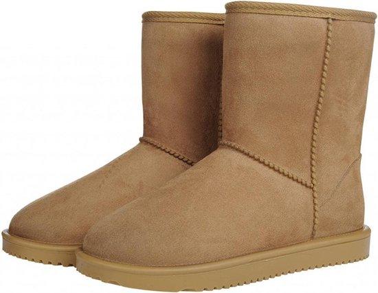 all weather Davos waterdicht en bontgevoerde (stal)schoen camel maat 34