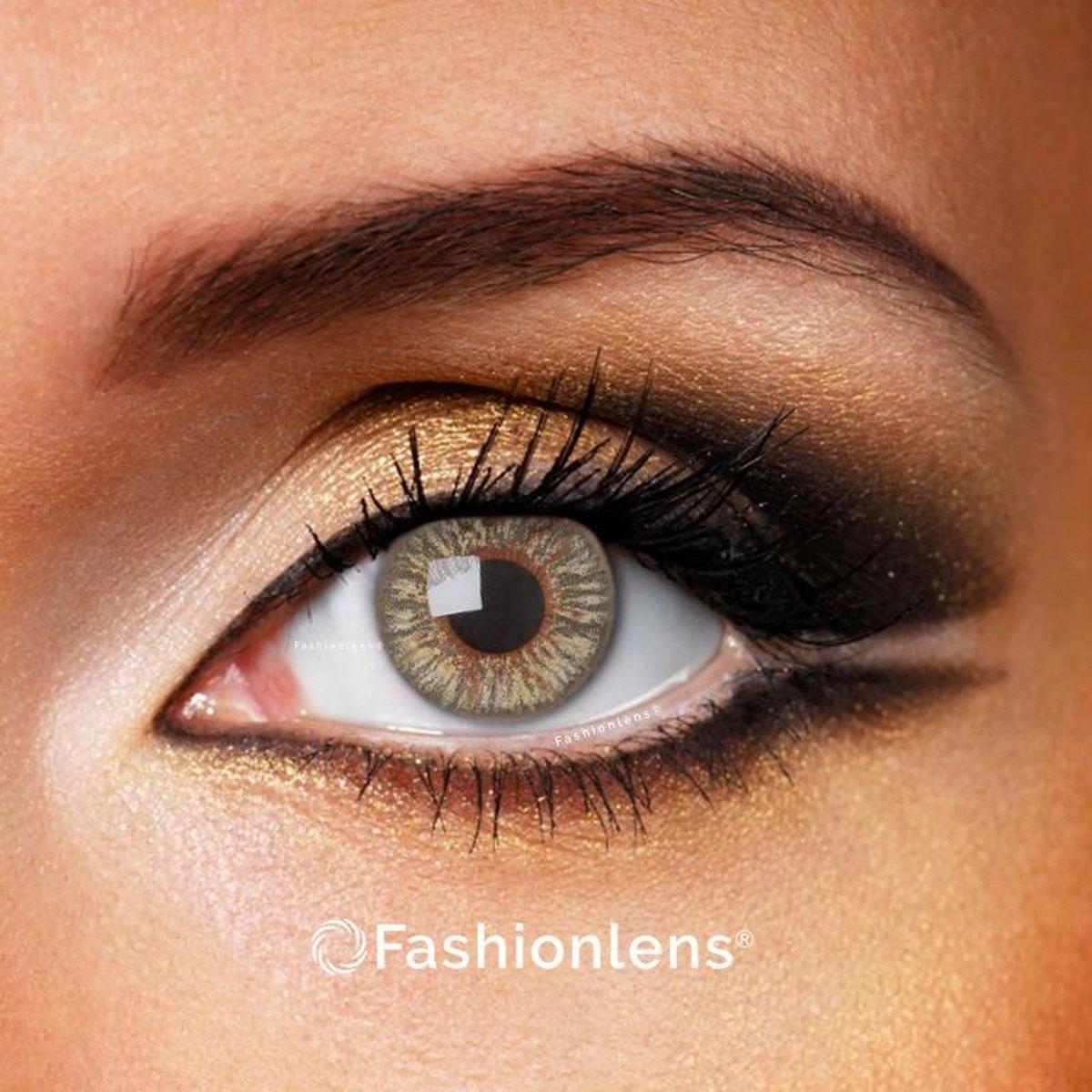 Kleurlenzen - Grey Passion - jaarlenzen met lenshouder - grijze contactlenzen Fashionlens