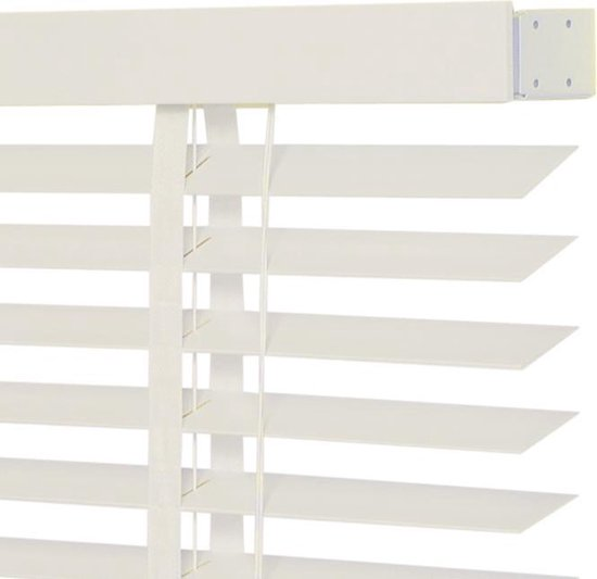 Jaloezie - Hout - Lamelbreedte 50mm - Structuur  - Kalk Wit - 120x175cm - Intensions - FSC - Intensions