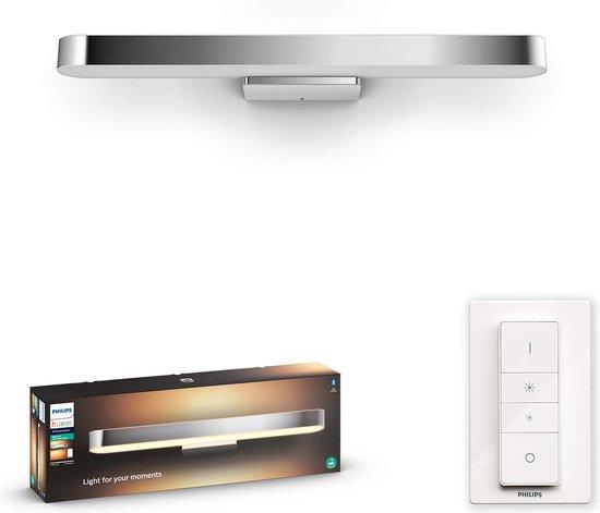 Philips Hue Adore badkamerspiegellamp - warm tot koelwit licht - chroom