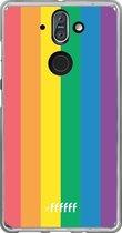 Nokia 8 Sirocco Hoesje Transparant TPU Case - #LGBT #ffffff