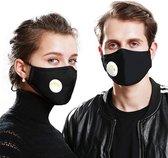 Uitwasbare mondmasker mondkapje Katoen | zwart | t
