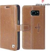 Pierre Cardin Lederen Bookcase Hoesje Samsung Galaxy S6 edge - Bruin