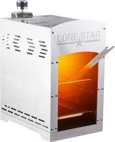 Hoge temperatuur grill / gasbarbecue 'beefmaker' tafelmodel - 800 graden celcius - roestvrij edelstaal - 42x40x22 Lonestar