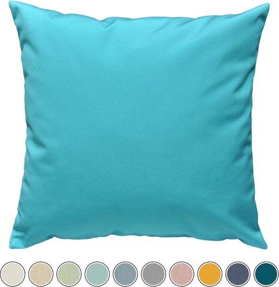 Buitenkussen Qush Royal - Sunbrella Aruba turquoise | Waterbestendig | kleurvast | vlekbestendig | schimmelwerend - Sierkussens buiten tuin loungekussen / tuinmeubel kussen /tuinkussen / buitenkussens / palletkussen