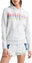 Superdry Hoodie Dames - Licht Grijs/Roze/Blauw/Groen - Maat S