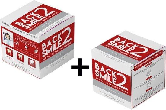 2x Back 2 Smile Smokers / Witte Tandpoeder - Tand poeder - voor witte tanden - ook voor rokers en koffie drinkers / aanslag - Tanden bleken - tandsteen  - stralend gebit - gezond tandvlees - tandpasta - wittere gebit