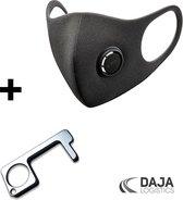 COMBI-DEAL- Clean Key + Masker - Hygiëne sleutel - No Touch -  Antibacteriële multitool  - Geen contact sleutel - Contactloos - Anti Bacterie Sleutelhanger - Antibacteriële  -  Schoon -  Lift - Deur - Pinautomaat - Hygiene - Must Have Vaderdag