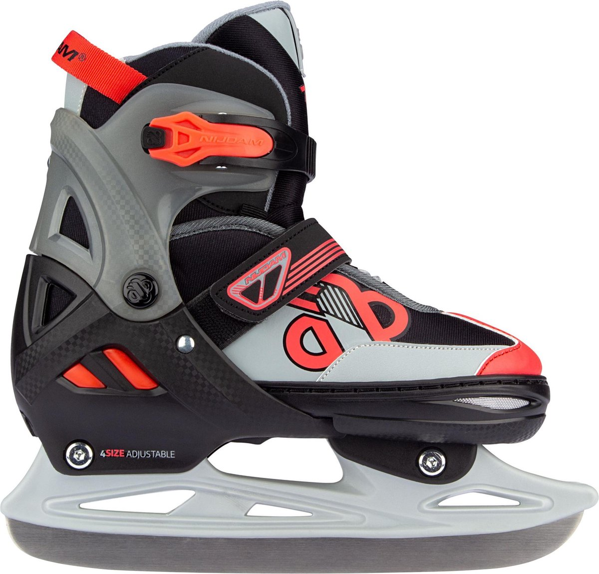 Nijdam Skates Combo Verstelbaar - Red Raider - Zwart/Rood/Grijs - Maat 29-32