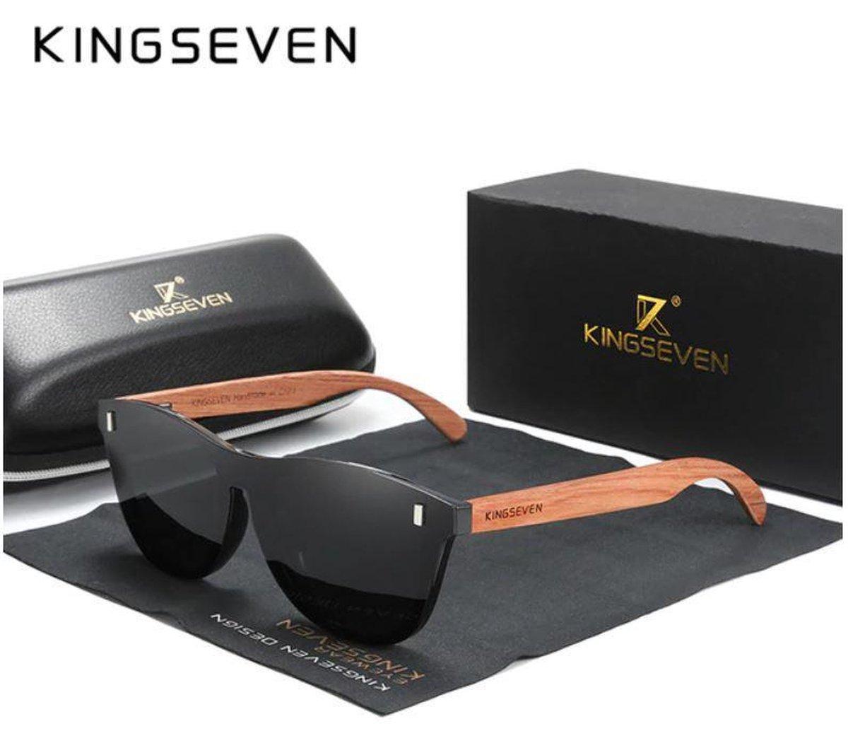 KingSeven Black Oculos Heren Zonnebril - Zwart