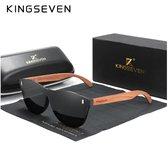 KingSeven - Black Oculos Bamboo UV400 en Polarisatie Filter