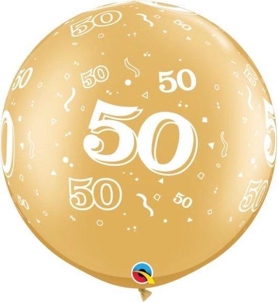 Ballonnen goud 50 (2 stuks)