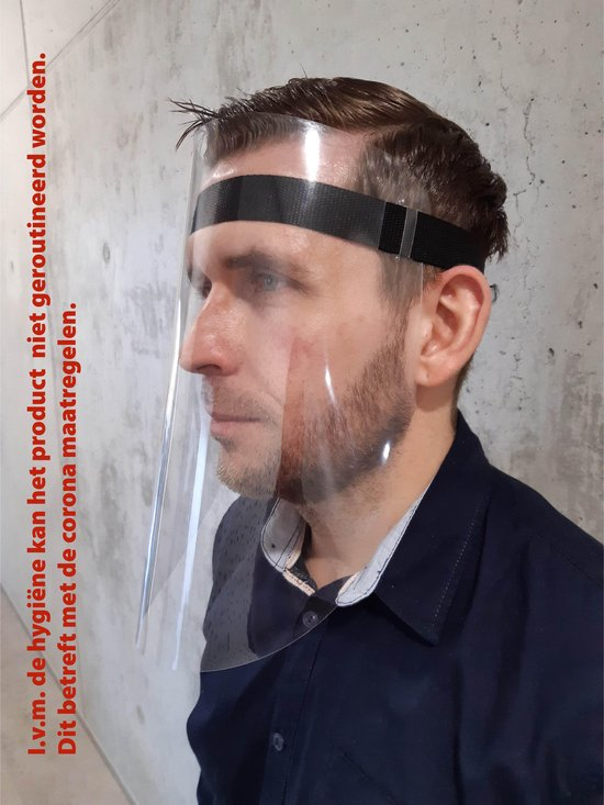 Spatmasker | Gezichtsmasker | Beschermkap voor gezicht