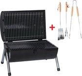 MaxxGarden Houtskool Barbecue - Grilloppervlak (LxB) 38 x 52 cm - Met Dubbel Grill Vlak - Zwart
