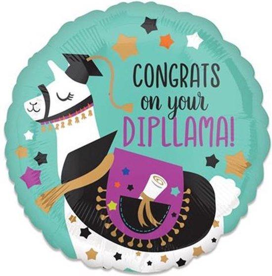 Folieballon Congrats Dipllama