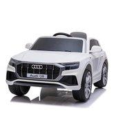 Audi Q8 Elektrische kinderauto AccuAuto kind 12 volt met rubberen banden, leren zitje en Afstandsbediening (Wit)