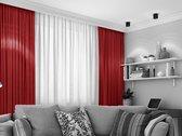 Home of Curtains LEMONI - Gordijn - Met Plooiband - Verduisterend - Kant en Klaar - 150x260 cm - Rood - 1 Stuk