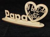 Tekstbord op voetstuk - Papa jij bent de liefste